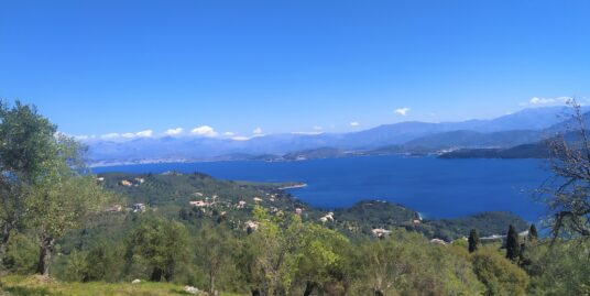 Outstanding view to the Ionian sea and green mountains