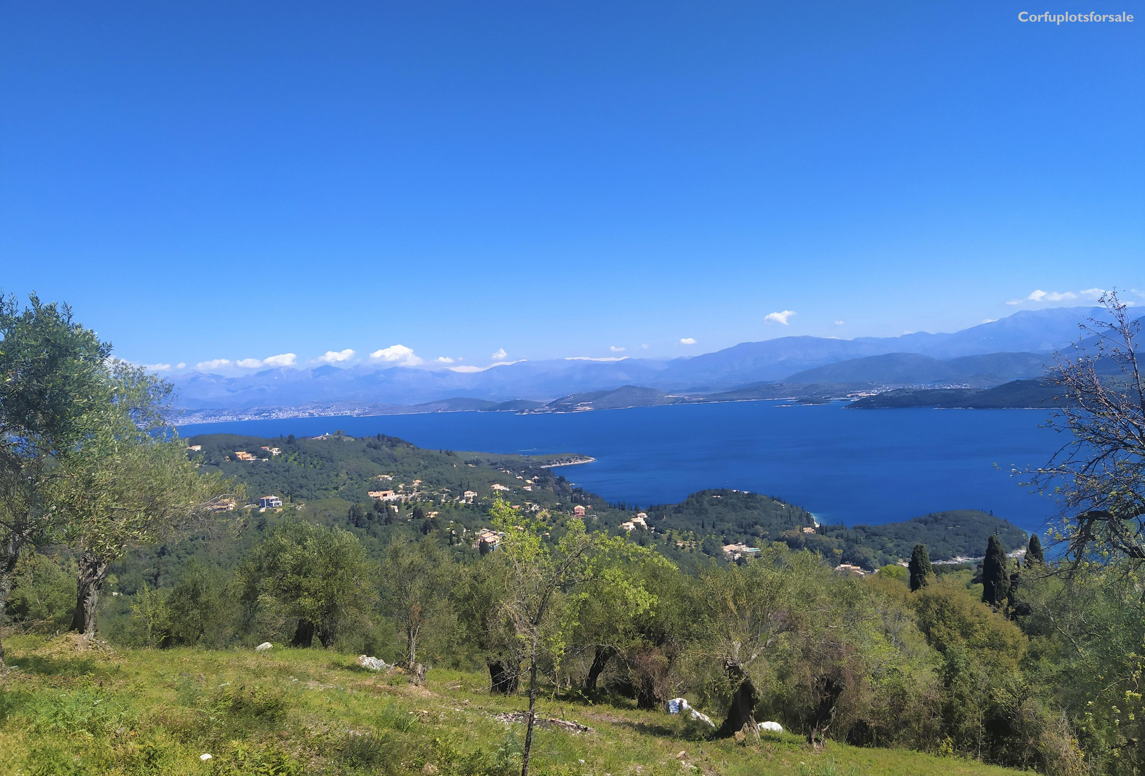 Superb view to the Ionian sea