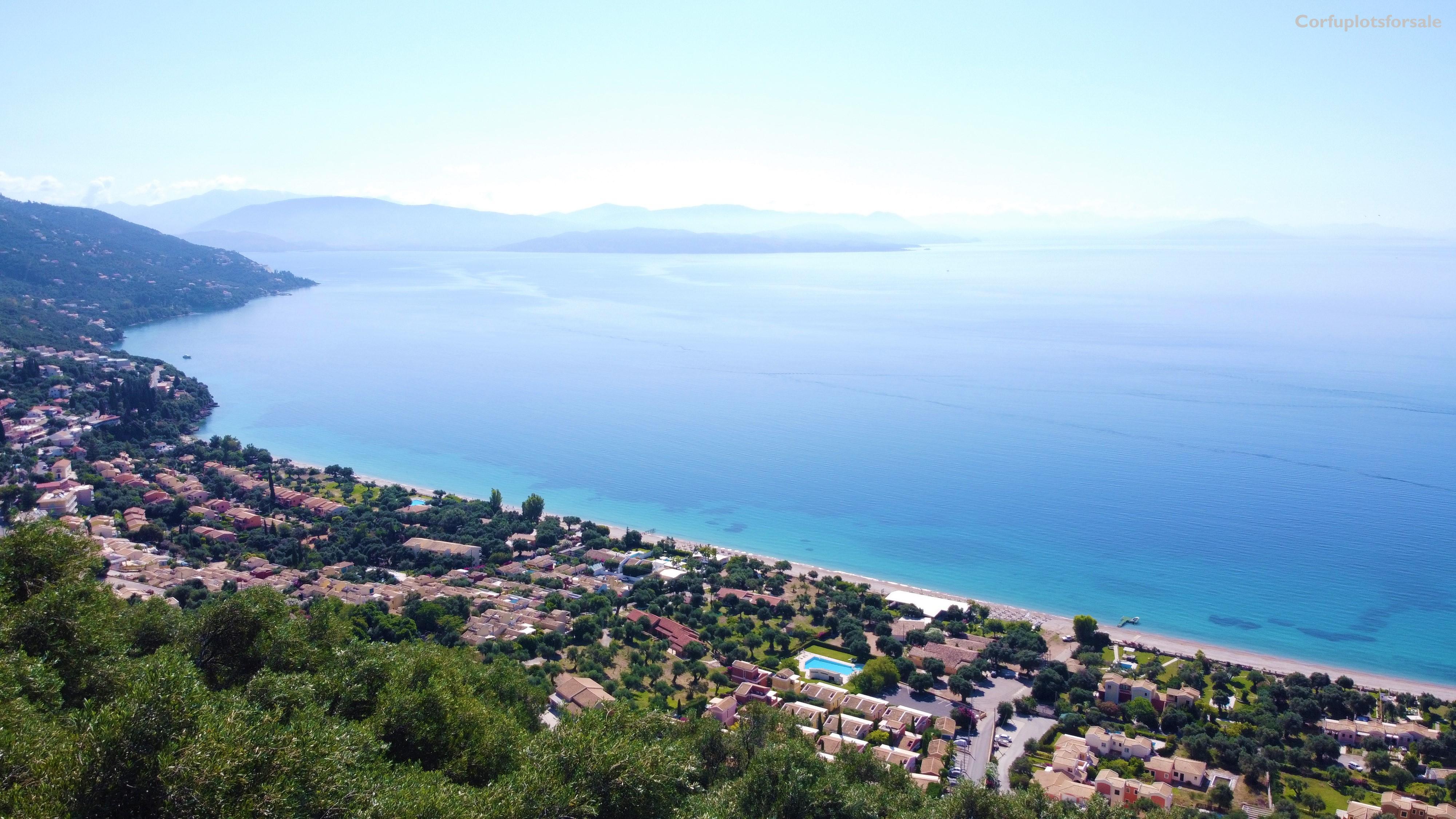 Plot with wonderful panoramic view of Barbati area
