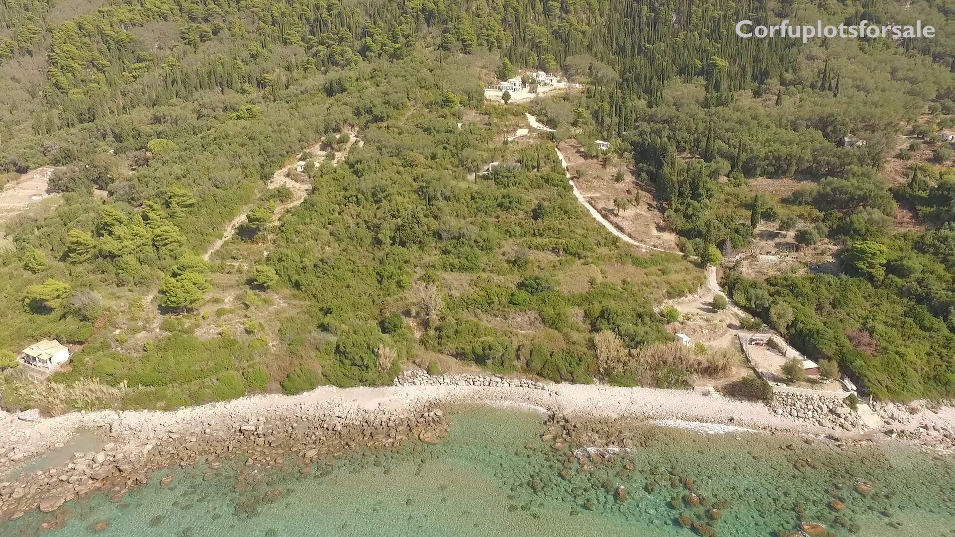 6977,12 sq.m. Plot in Agios Gordios Corfu (on the beach)