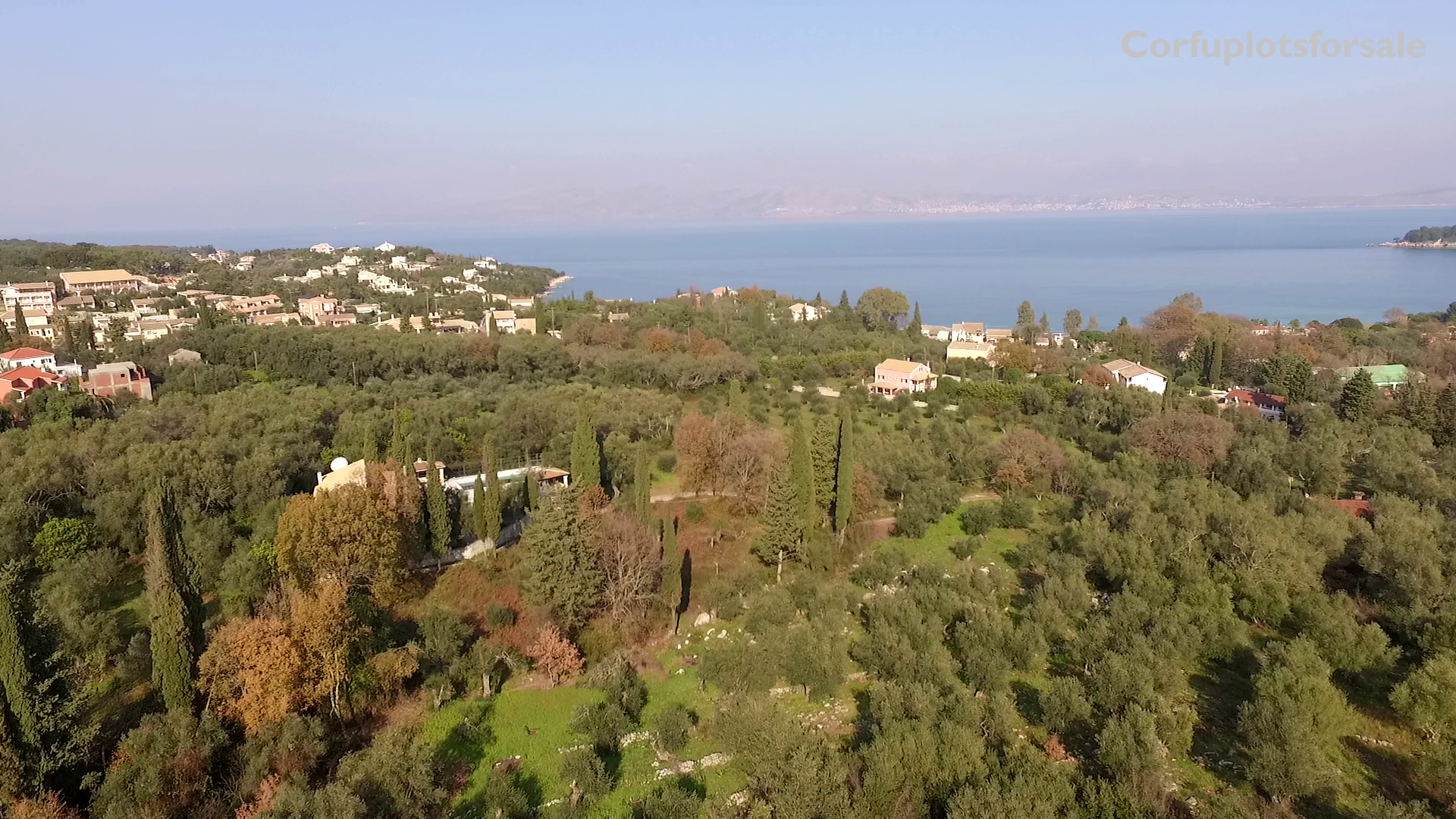 Large and attractive plot of land in North-East Coast of Corfu