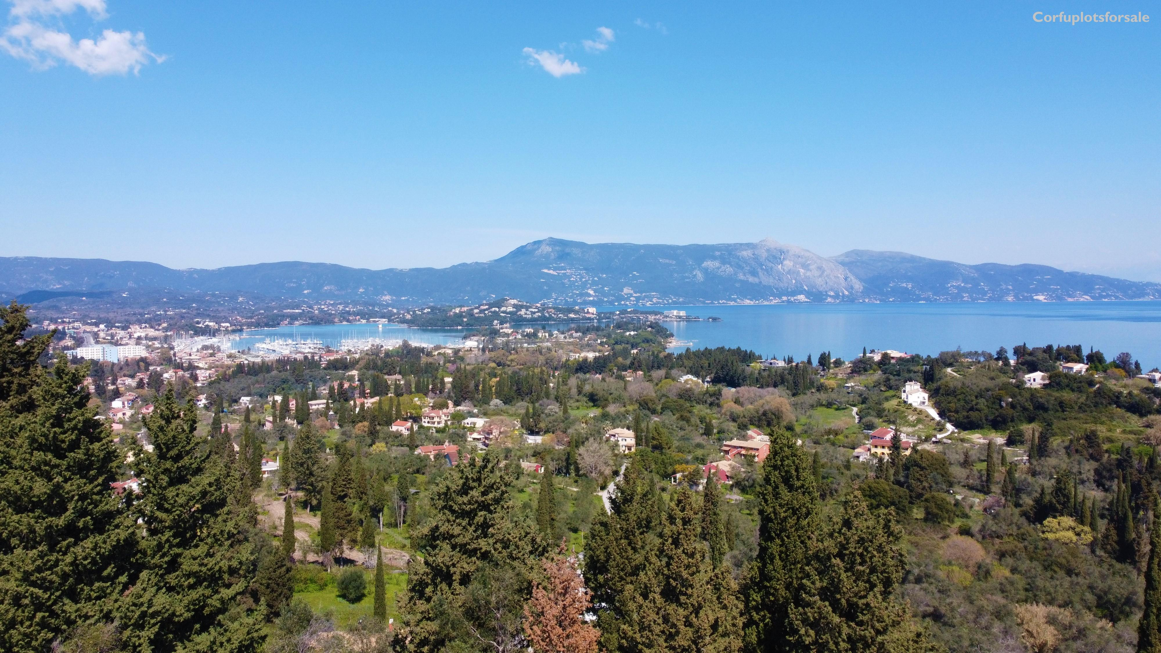 Spectacular view outside of Corfu City