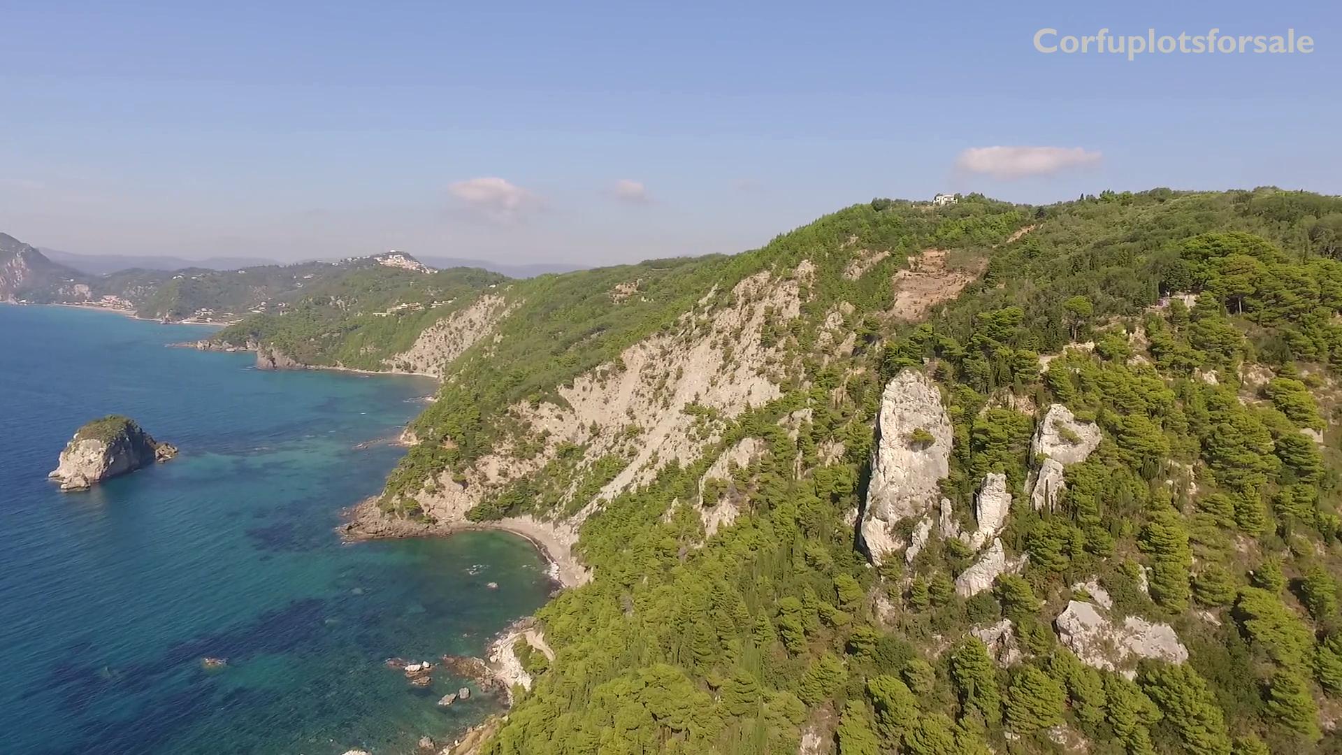 Beautiful plot on a hill in Western Coast of Corfu
