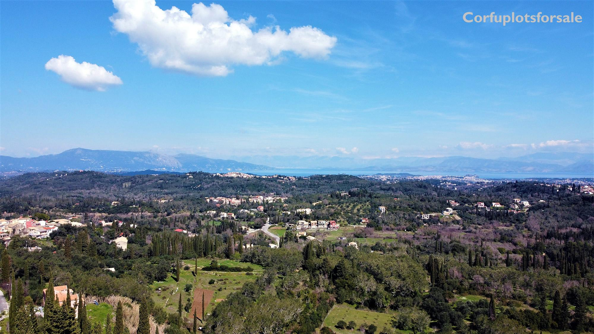 An interesting land with view of Corfu City and Ionian sea