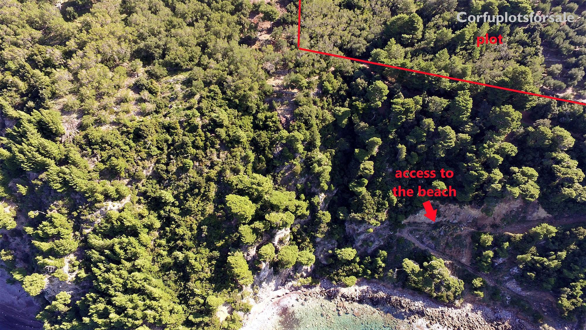 Plot on an amazing hidden beach, Sinarades, Corfu