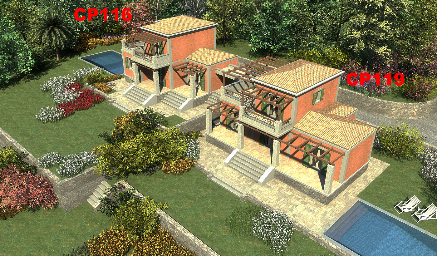 Plot in Ano Korakiana with absolute view and privacy
