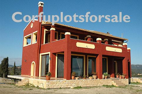 Villa of 202 sq.m located at the top of the hill in the area of Poulades. Panoramic view to the Corfu and marina area.